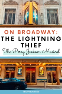 The Lightning Thief: The Percy Jackson Musical is now on Broadway until January 2020! If you loved the Rick Riordan series growing up, you'll love this.