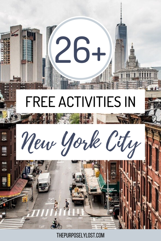 The best things in life are free. From walking tours to neighborhoods, explore this list of free things to do in New York City!