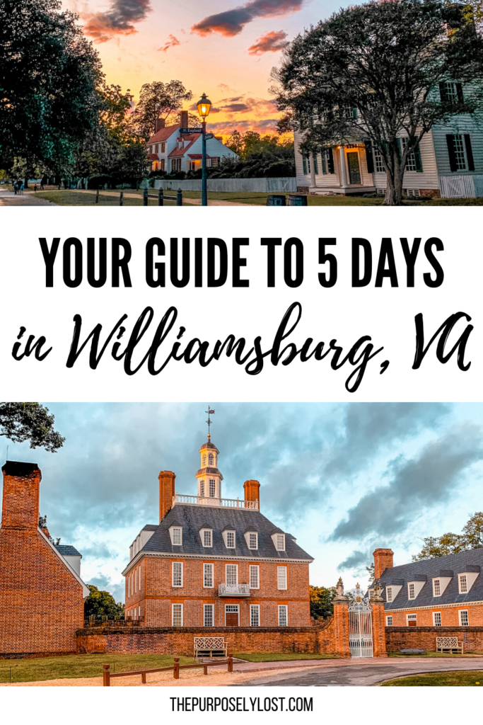 Looking for a historic United States city to visit this year? Filled with Colonial history, you'll find many things to do in Williamsburg, Virginia!