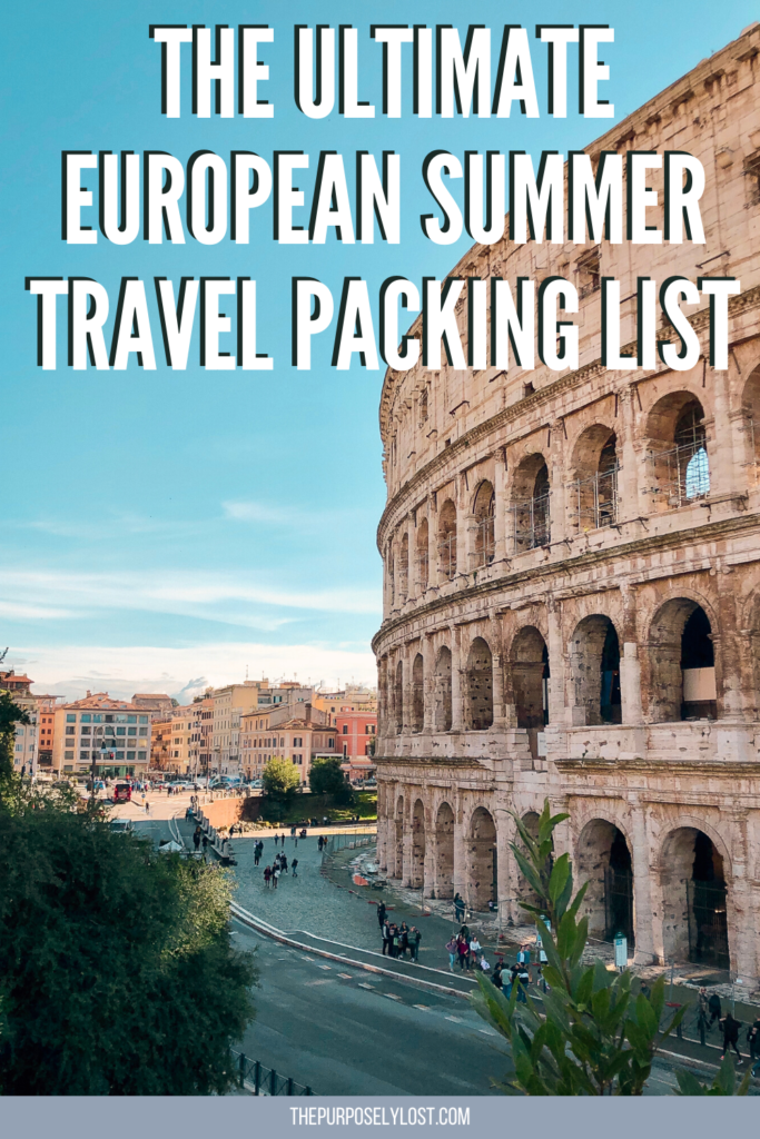If you're spending a summer away in Europe, you'll want to make a plan. Learn how to pack for your adventures with this European summer travel packing list!