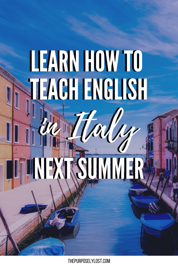 Have you ever dreamed of working and teaching English abroad? Here's how to have the summer of your life teaching English in Italy with ACLE!