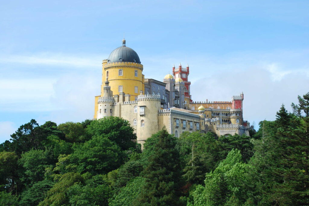 Pena Palace Sintra Portugal famous palace and one of the seven wonders in Portugal