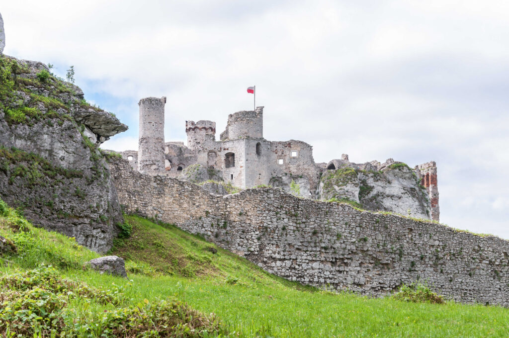 The old castle ruins in Ogrodzieniec, Poland.