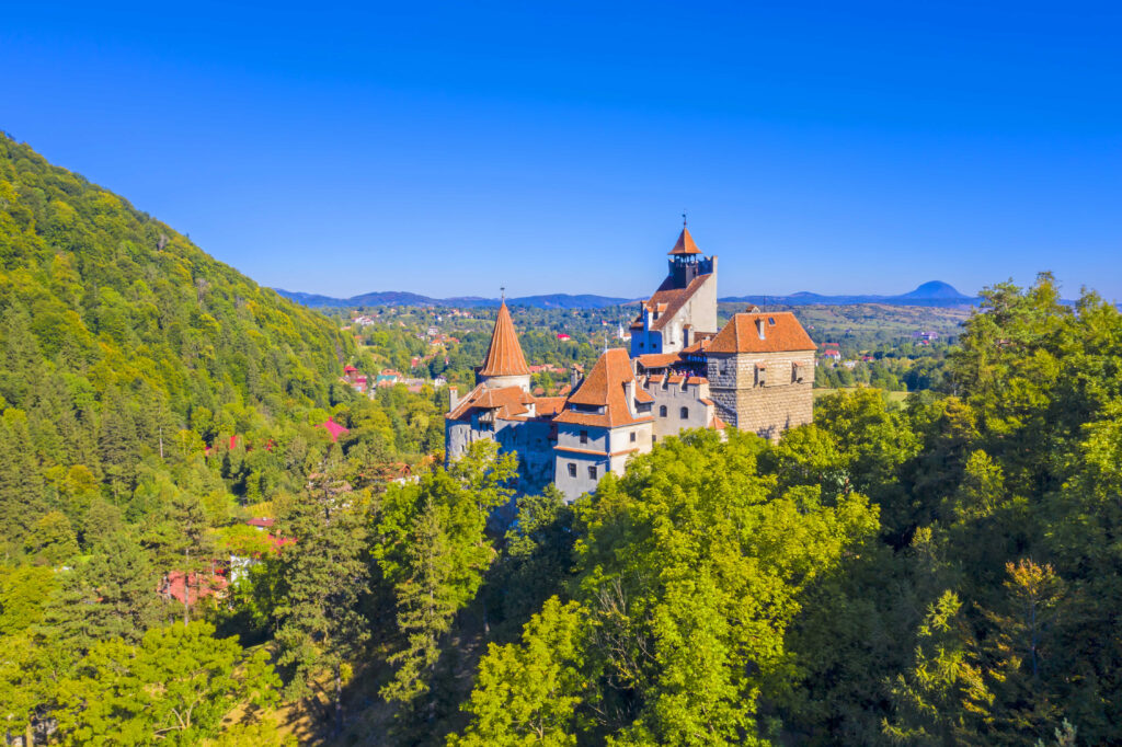 Medieval Castle of Bran, known for Dracula story, one of important landmarks in Romania.