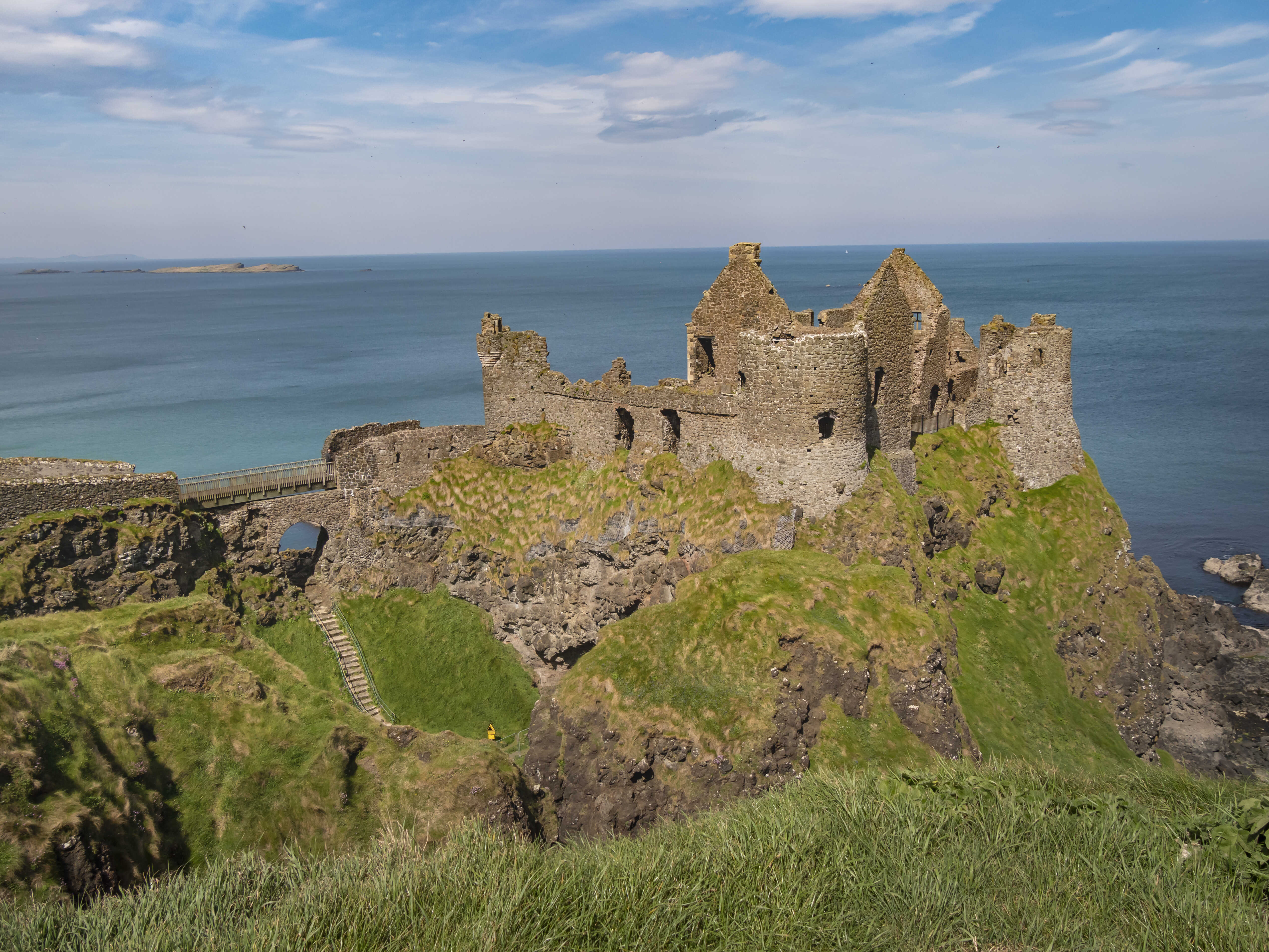 Dunluce Castle in Northern Ireland - a famous movie location - travel photography