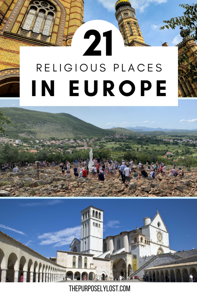There are so many cities with incredible religious places in Europe. Which of these sanctuaries, sites, and temples do you want to visit?