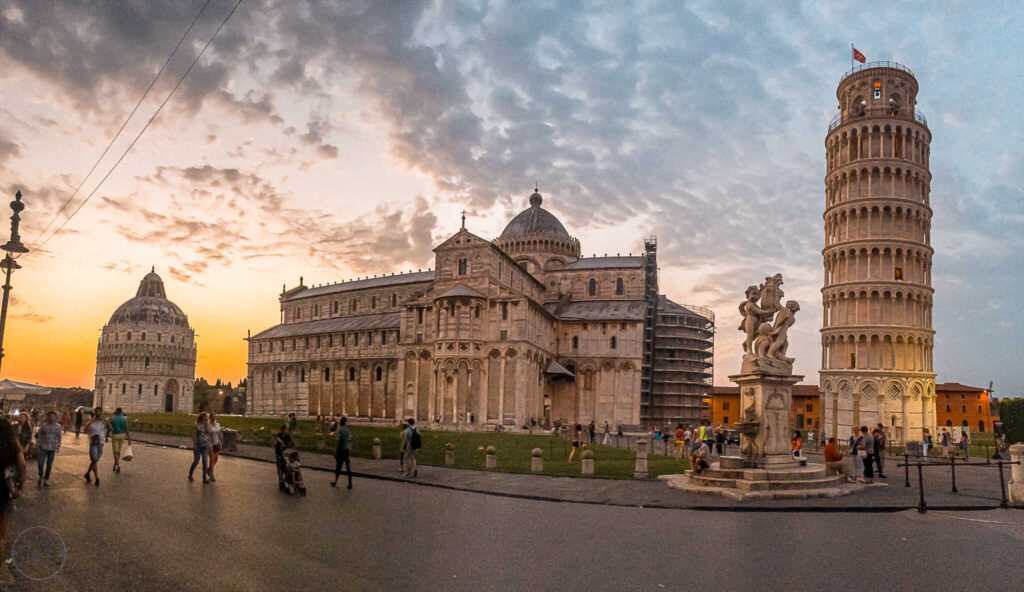 Piazza dei Miracoli Leaning Tower of Pisa Italy
