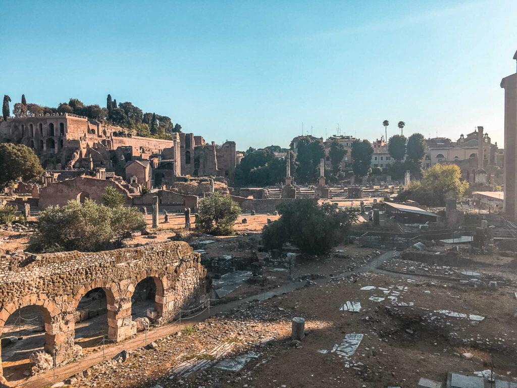 Ancient Roman Forum Palatine Hill Rome Italy