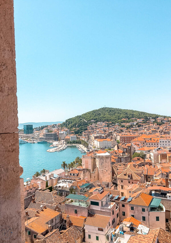 View from Cathedral of St. Dominus Bell Tower in Split Croatia on the list of things to do in Split Croatia
