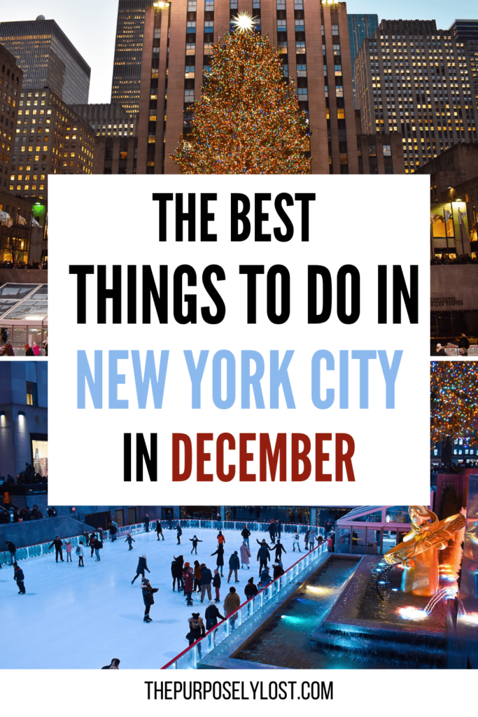 The Best Things to do in New York City in December - Rockefeller Center Christmas Tree and ice skating rink - Are you visiting the Big Apple this holiday season? Find the best things to do and plan out your entire New York City Christmas itinerary!