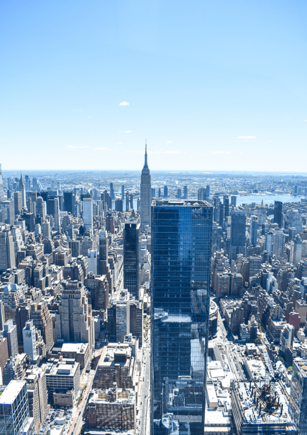 The Empire State Building as seen from The Edge in Hudson Yards - Have you ever felt like you were on top of the world? Taking in a view from the best observatories in New York City will be a worthy addition to your trip!
